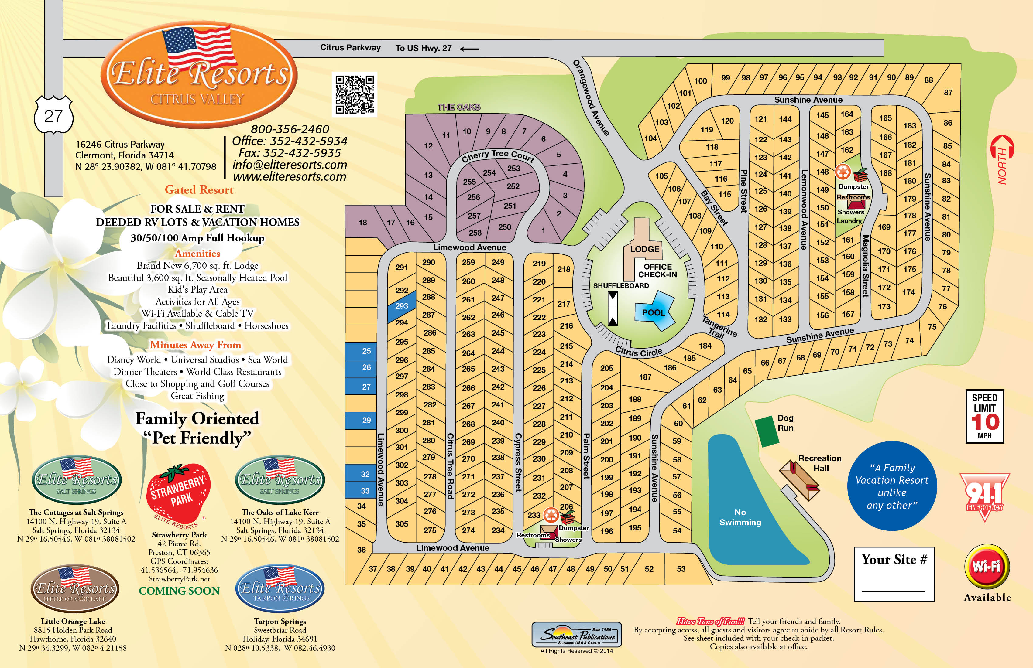 Clermont Florida Map.Elite Resorts Citrus Valley Campground Fl Map Of Resorts