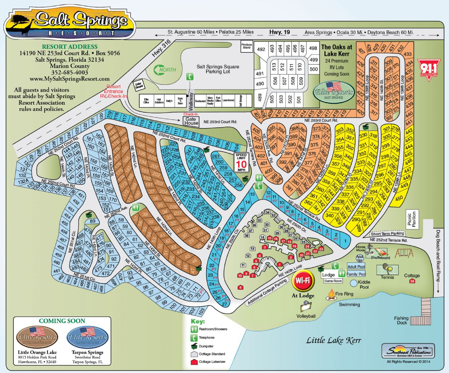 Salt Springs Campground Florida   Map of the Resort