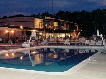 Adult Pool at night